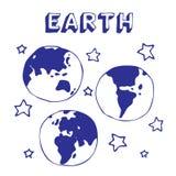 Erde und Sterne Stockbilder
