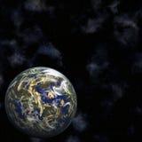 Erde und Sterne Vektor Abbildung