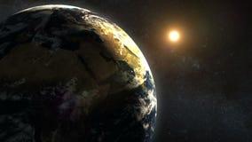 Erde und Sun stock abbildung
