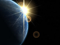 Erde und Sun Stockbild