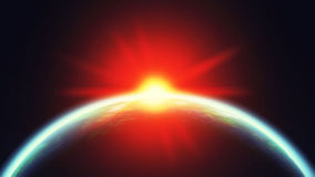 Erde und Sun im Raum Lizenzfreies Stockbild