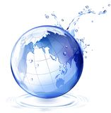 Erde- und Wassertropfen Stockbild