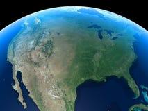 Erde - Vereinigte Staaten Lizenzfreies Stockfoto