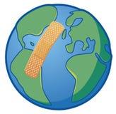 Erde verwundet Stockbild
