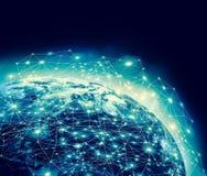 Erde vom Platz Bestes Internet-Konzept des globalen Geschäfts von der Konzeptserie Elemente dieses Bildes vorbei geliefert Stockfotos