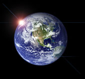 Erde vom Raum Stockfoto