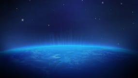 Erde vom Raum stock abbildung