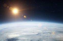Erde vom Raum lizenzfreie stockbilder