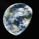 Erde vom Raum. Elemente dieses Bildes geliefert von der NASA. Lizenzfreie Stockbilder