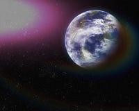 Erde vom Raum. Elemente dieses Bildes geliefert von der NASA. Lizenzfreies Stockfoto