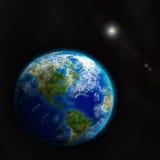 Erde vom Raum. Elemente dieses Bildes geliefert von der NASA. Lizenzfreie Stockfotos