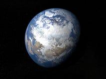 Erde vom Raum Russland mit Wolken Lizenzfreies Stockfoto