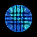 Erde von den Punkten Stockfotografie