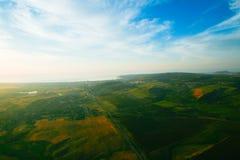 Erde von der Vogelflughöhe Lizenzfreies Stockfoto