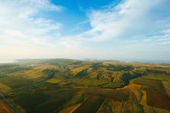 Erde von der Vogelflughöhe Lizenzfreies Stockbild