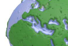 Erde, Weltkarte polygonale Kugel Europa Abbildung 3D Lizenzfreie Stockbilder