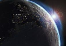 Erdeansicht mit Tag und Nacht Effekten