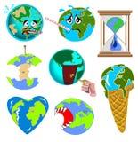 Erdebilder lizenzfreie abbildung