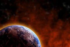 Erdeerwärmung lizenzfreie abbildung