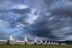 Erdene Zuu Monastery and its 108 stupas Royalty Free Stock Photo