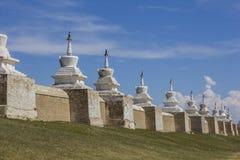 Erdene Zuu Monastery surrounding wall. Near Karkorum at Mongolia royalty free stock photos