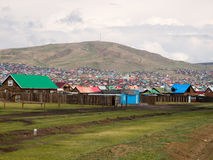 Erdenet city in Mongolia Stock Images