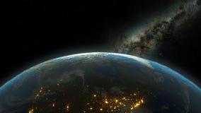 Erdeplanet im Platz lizenzfreie abbildung