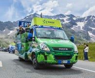 ERDF Vehicle - Tour de France 2014 Royalty Free Stock Photo