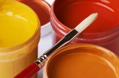Erdfarben-Künstler-Acryllacke Lizenzfreie Stockbilder