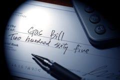 Erdgas Bill Lizenzfreies Stockfoto