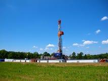 Erdgas-bohrende Arbeitsstelle Stockfotos