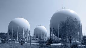Erdgas-Fabrik Lizenzfreie Stockfotografie