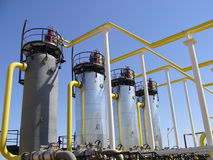 Erdgas-Industrie Stockbild