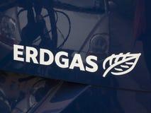 Erdgas logo on a car royalty free stock photo