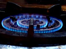 Erdgas-Ofen Stockfotos