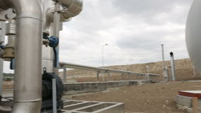 Erdgasbehälterrohrleitungen stock video footage