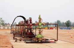 Erdgasbrunnenkopf Stockbilder