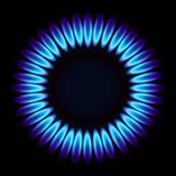 Erdgasflamme. Lizenzfreie Abbildung