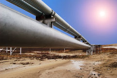Erdgasleitung stockbilder