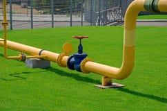 Erdgasleitung Stockfotografie