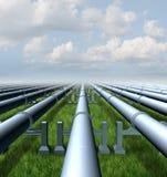 Erdgasleitung lizenzfreie abbildung