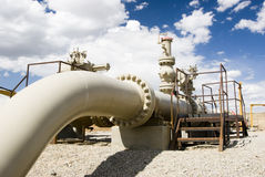 Erdgasleitung Stockfotos