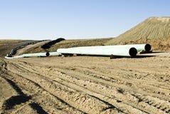 Erdgasleitung-Aufbau Stockfoto