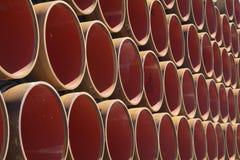 Erdgasleitungelemente Stockfotografie