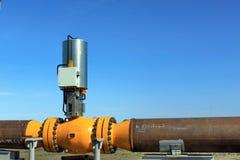 Erdgasleitungsventil stockfotografie