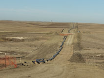Erdgaspipeline Stockfoto