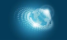 Erdglobaler Konzept-Hintergrund Stockfotos