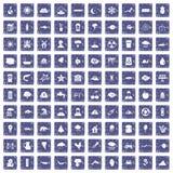 100 Erdikonen stellten Schmutzsaphir ein Lizenzfreie Stockfotografie
