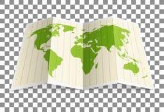 Erdkarten-Vektorillustration Stockbilder
