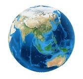 Erdkugel-Asien-Ansicht lokalisiert Lizenzfreie Stockfotografie